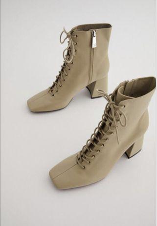 Новые ботинки zara 38 р кожа
