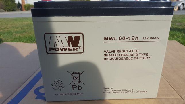 Akumulator 12V 60Ah MWL 60-12h kamper , alarm , kontrola dostępu ,ups