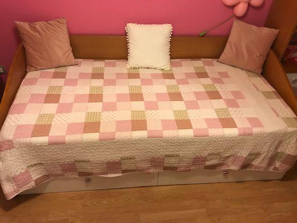 Quarto completo c/2 camas+camiseiro+2 estantes c/gav + colchões