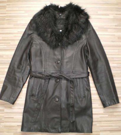 Płaszcz skórzany z podpinką r.S -jak nowy