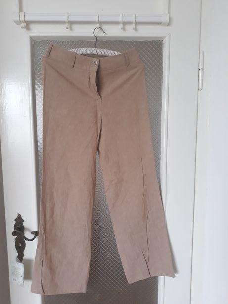 Spodnie bawełniano-lniane