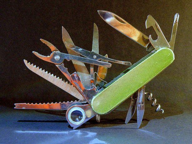 Нож складной, раскладной мультитул пила