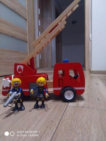 Wóz strażacki zabawka ekologiczna drewniana