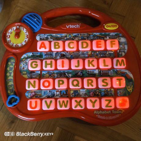 """V-tech_Fisher Price zabawka, angielski """"alfabet town"""" światło dźwięk"""