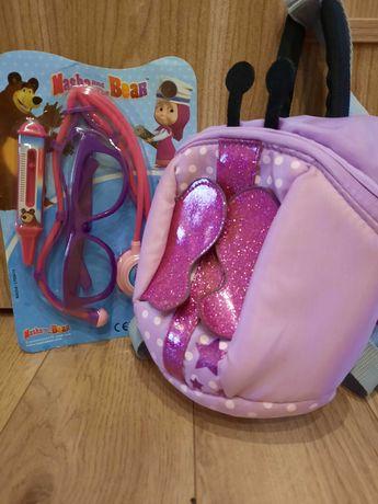 plecaczek + maly nowy zestaw doktora