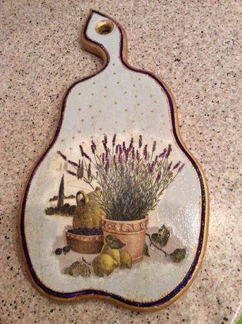 Декоративная доска для кухни. Дерево+ручная работа