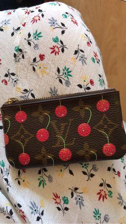 LOUIS VUITTON monogram cherry  pochette Cles coin Case