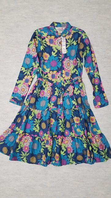 Платье для девочки Boboli с пояском. Сукня. Zara