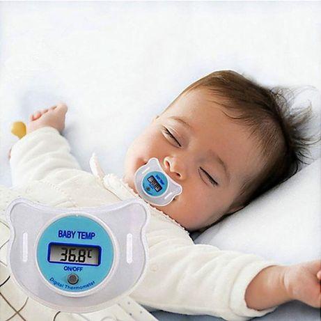 Соска-термометр градусник детский цифровой электронный Baby Temp