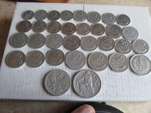 zestaw monet PRL-33szt