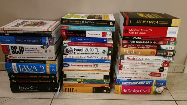 Książki programowanie, język c, JAVA, flash, PHP,Adobe InDesign,Python