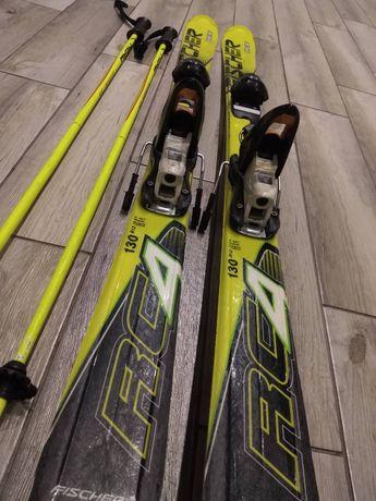 Дитячі лижі Fischer 130 см + палиці 105 см