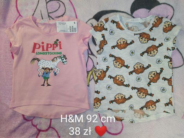 Nowe, prześliczne bluzeczki H&M rozmiar 92 cm