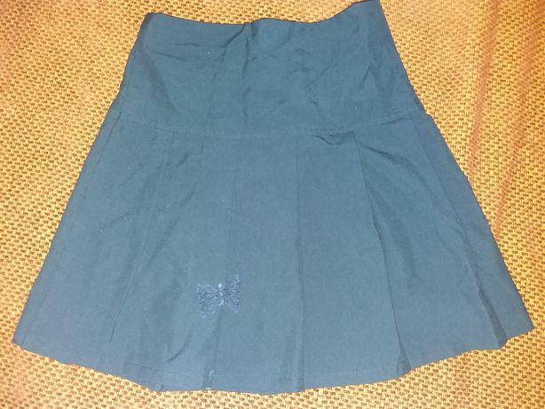 Темно синя юбка для школи на 7- 9років