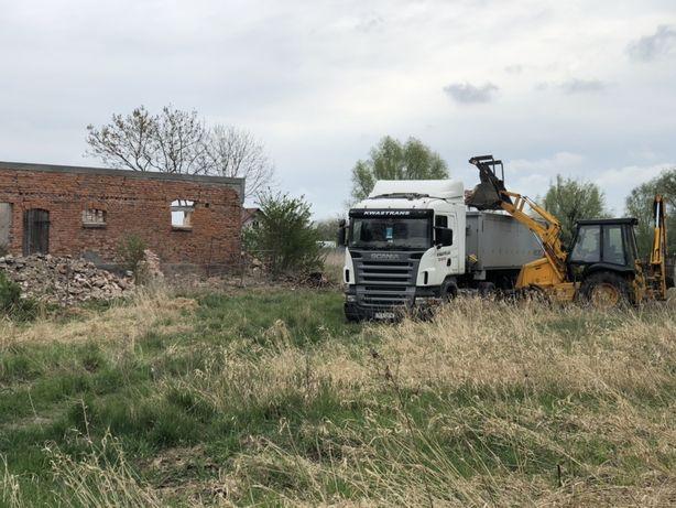 Drenaż,koparko ładowarka, niwelacja terenu,kopanie,piasek,wyburzenia