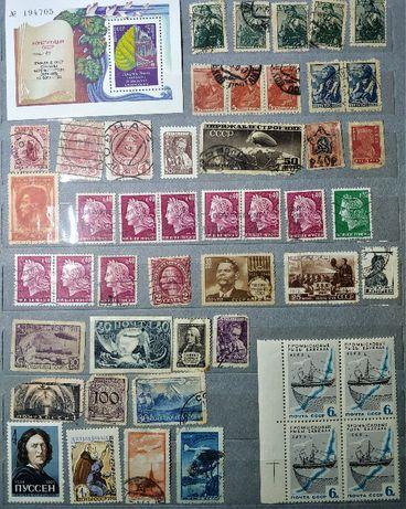 Крупная и редкая коллекция марок СССР листов и иностранных