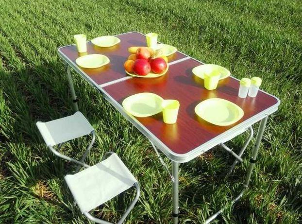 Стол для пикника усиленный с стульями стіл з стільцями складной