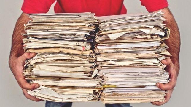 Макулатура , картон , бумага , архив