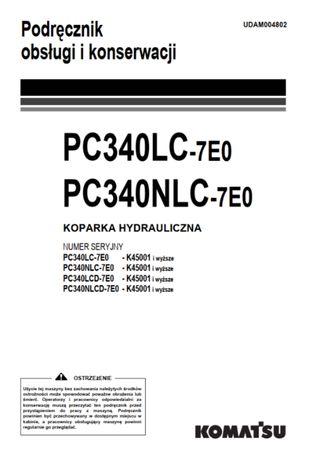 Komatsu PC 340 DTR Instrukcja obsługi PL