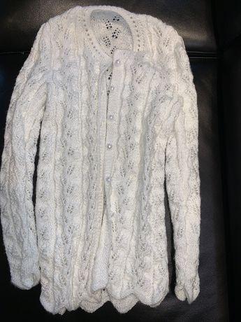 Biały sweter dla dziewczynki - Komunia