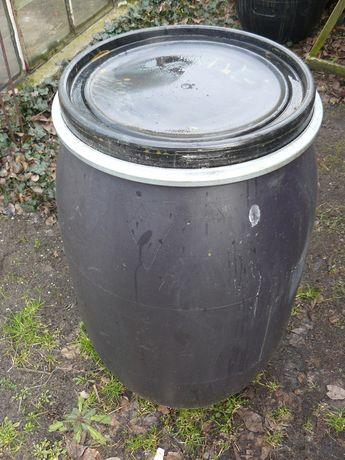 Beczka do wody z przykrywą 100 litrów wysoka 80 cm