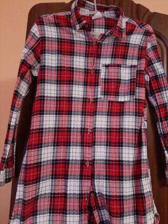 Одяг для дівчини платье туніка рубашка в клітинку 110 128 134 140