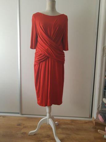 Sukienka 44 czerwona jesienna suknia Phase Eight 46 seksowna kobieca