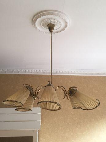 Żyrandol, lampa wisząca, vintage, 2x kinkiet gratis