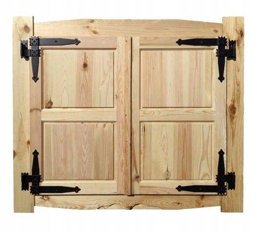 OKNO Z OPASKAMI - do okiennicy drewnianej 100/80 cm