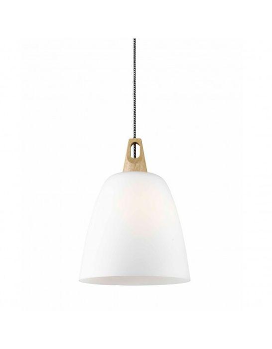 Lampa wisząca Vinto Zuma Line z drewnem i sznurem biało-czarnym Łódź - image 1