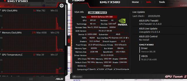 Продам ASUS GTX580 DirectCU II Мечта оверклокера 11/11/11