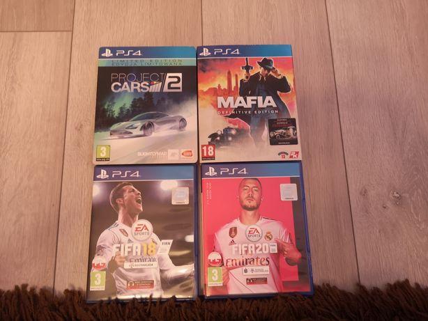 Gry PS4 FIFA18, 20, Project Cars, Mafia