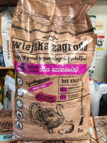 Wiejska Zagroda Indyk z Jabłkiem 9kg, szczeniak duża rasa, 66%mięsa