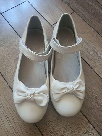 Туфли детские белые размер 37
