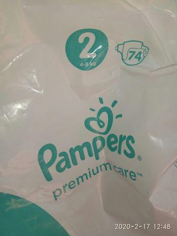 Подгузники детские 95 шт. Pampers premium care, Huggies. Памперсы