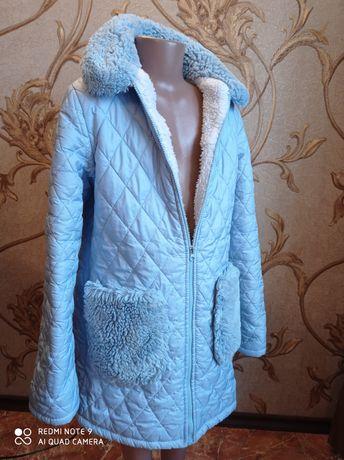 Курточка для дівчинки голуба