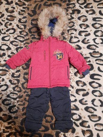 Зимний комбинезон Бемби с натуральным мехом р.92 Bembi