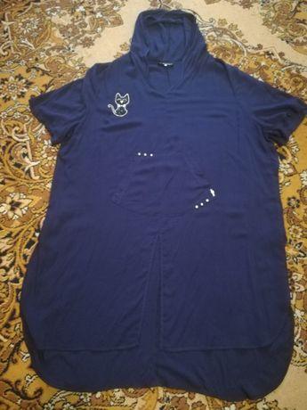 Туника, рубашка, платье, большой размер