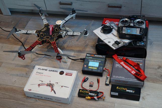 DJI F550 GRAUPNER MZ-18 Vista Zestaw Jak Nowy Dron Gotowy Do Lotu