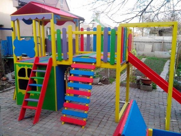 Детские площадки Горки Домики Качели