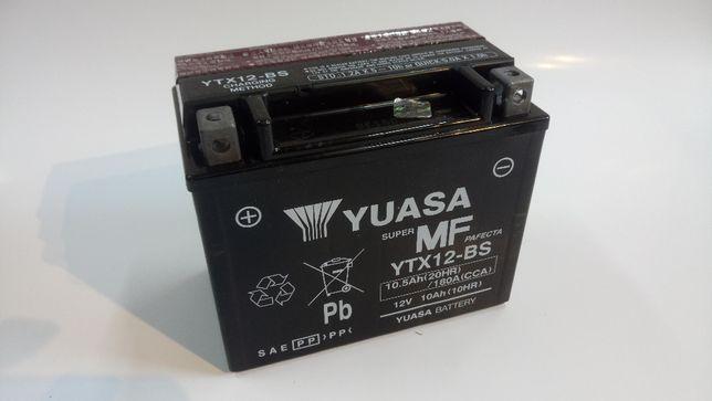 Akumulator motocyklowy żelowy YUASA 12V YTX12-BS CBTX12-BS wysyłka