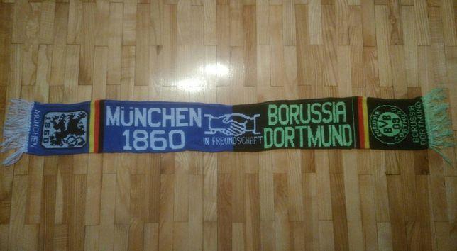 szalik zgodowy TSV Monachium : Borussia Dortmund