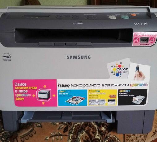 Лазерный принтер МФУ Samsung CLX-2160 ксерокс универсальный порошковый