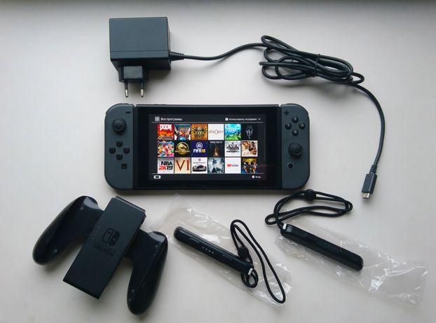 Nintendo Switch новой ревизии + 4 лицензионные игры. Возможна доставка
