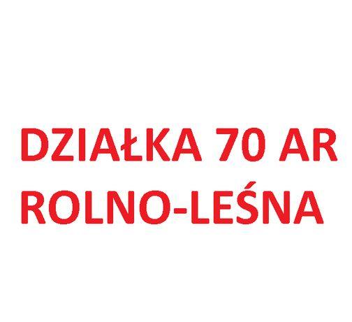Działka rolno-leśna 70ar