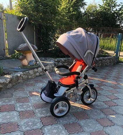 Дитячий трьохколісний велосипедCrosser T-503 ECO AIR, колеса надувні