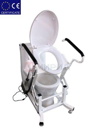 Кресло для туалета подъемным устройством. Стул туалет.