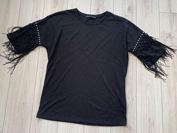 T-shirt z fredzlami house XS czarny
