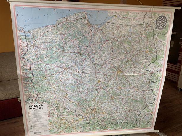 Mapa polski 148cm x 137cm