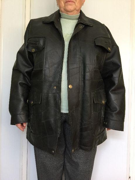 Куртка мужская кожа размер52 черная